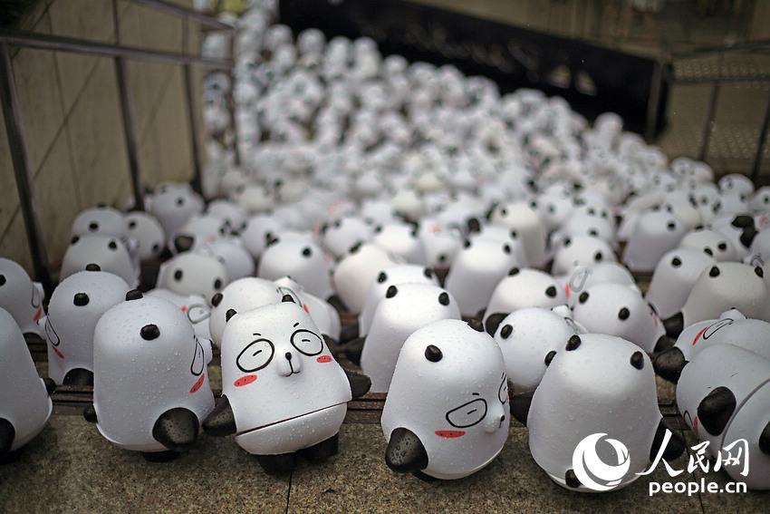 1000只可爱的q版熊猫表情各不相同