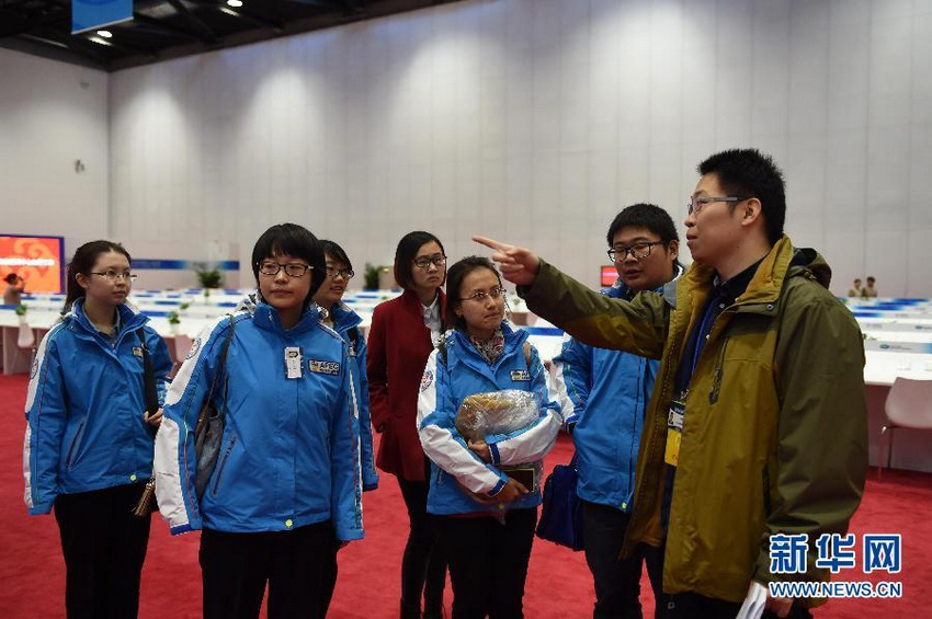 当日,记者提前进入2014年亚太经合组织(APEC)领导人会议周两图片