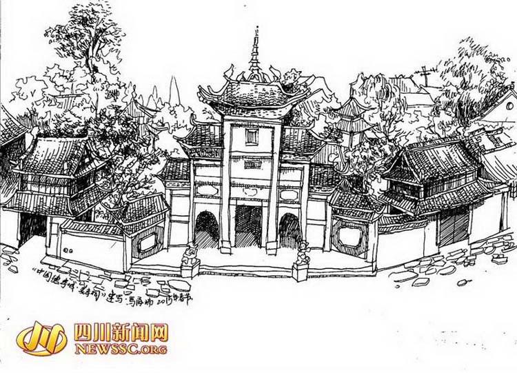 龙护舍利宝塔,邻姑泉,武圣宫等历史景点变成了她钢笔