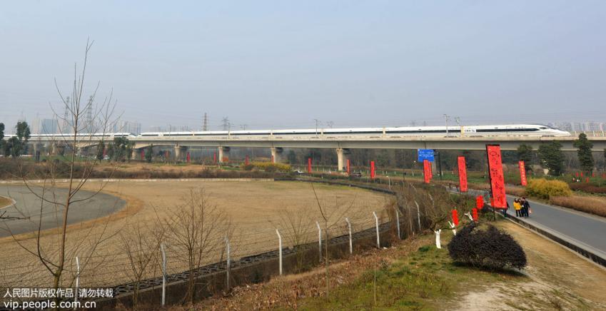 高清:成渝高铁动车组首次全部重联运行