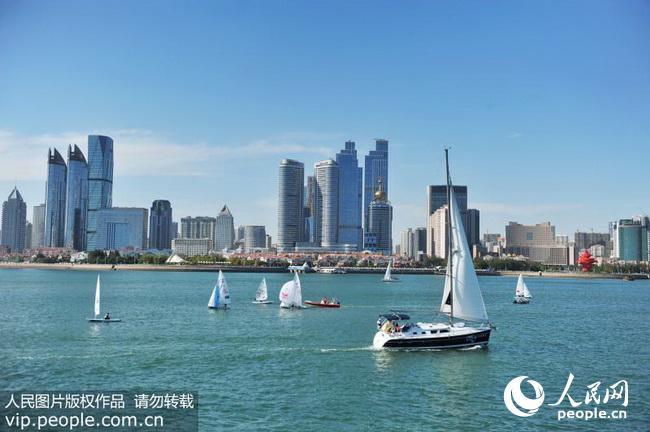 点击下载此图片   9月19日,2016世界杯帆船赛青岛站比赛在山东青岛