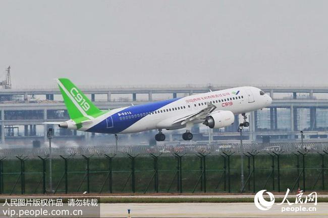 c919飞机从外形到内部布局,都由中国自己设计完成,它的研制历经7年